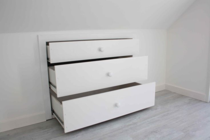 drawers for the wasted attic space?