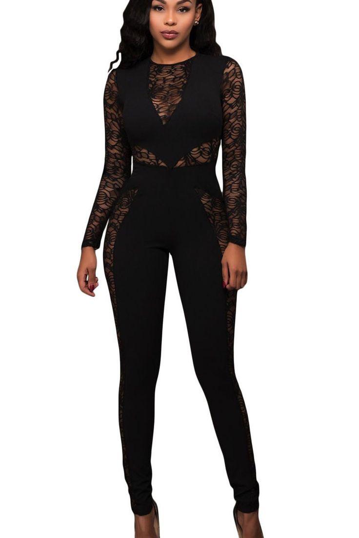 1000 ideas about combinaison femme chic on pinterest combinaison femme combishort noir and. Black Bedroom Furniture Sets. Home Design Ideas