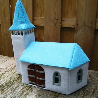 Felt dollhouse church