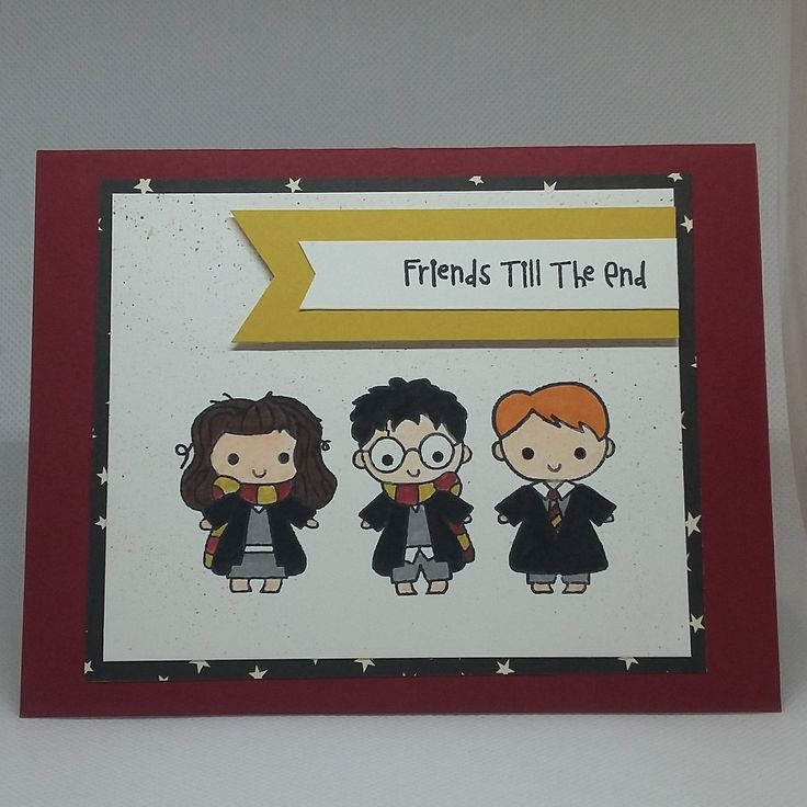 Excited to share the latest addition to my #etsy shop: Harry, Hermione & Ron - Best Friends http://etsy.me/2FF9SMu #cutecrystalcreations #harrypotter #harrypottercard