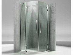 Box doccia angolare semicircolare in vetro temperato TIQUADRO QT - VISMARAVETRO