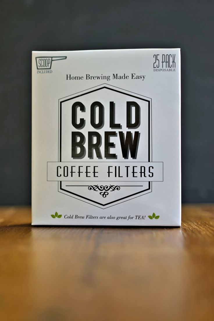 Cold brew coffee filters make cold brew at home without a