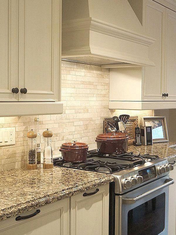 Light Ivory Travertine Kitchen Subway Backsplash Tile Com Design Cabinets Renovation