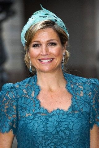Queen Maxima of the Netherlands during her visit of the Danish Prime minister at Christiansborg in Denmark