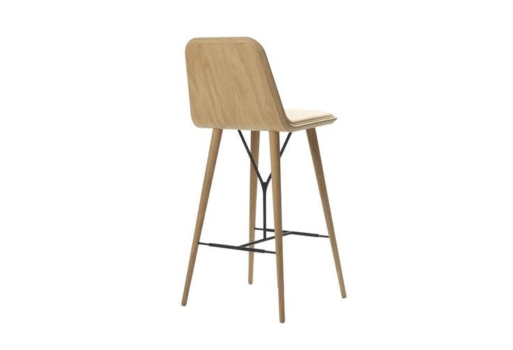 Tabouret de bar Spine Space - Bindslev Henriksen  Peter Bundgaard : Tabourets de bar design Fredericia Furniture - Design Ikonik