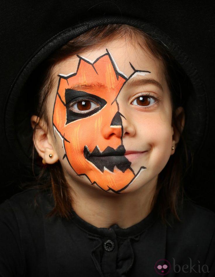 Maquillage de citrouille pour enfant