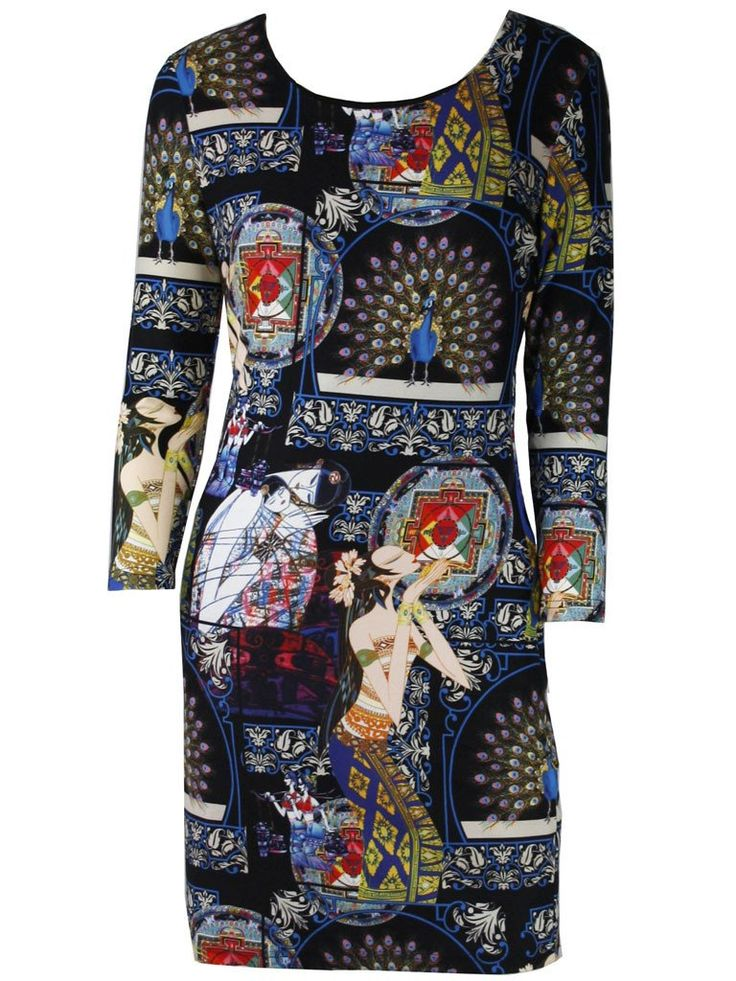 Babur Egyptian Print Dress