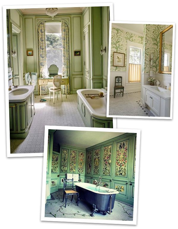 Top Of My Home Improvement List For 2017 Is To Wallpaper Or Paint My Bathroom  Green.