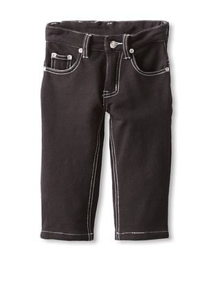 57% OFF Mini Shatsu Kid's Franco French Terry Pants (Black/White Stitching)