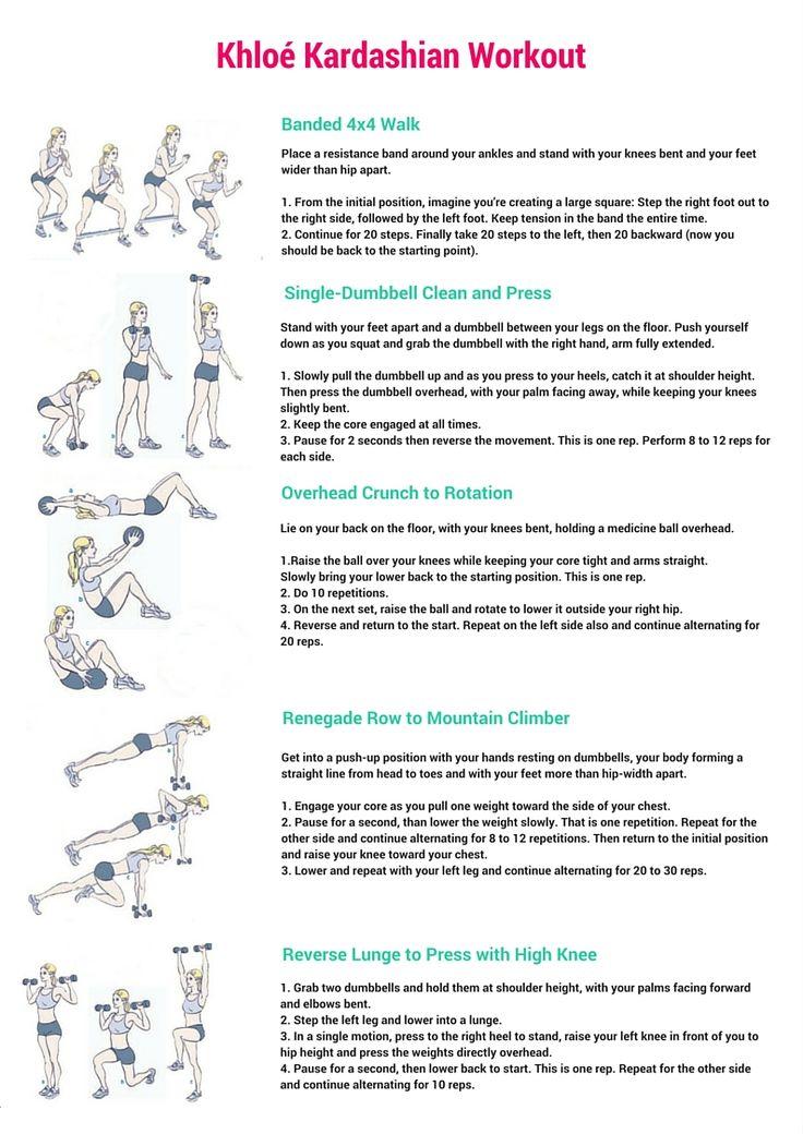 Khloé Kardashian Workout + Free Printable