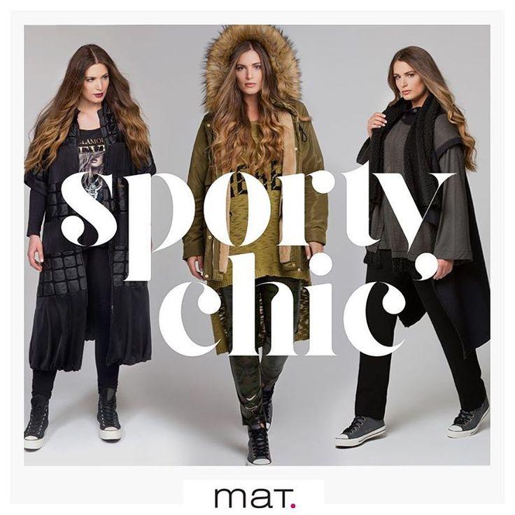 Διατήρησε το στυλ σου σε υψηλά επίπεδα όλες τις μέρες και ώρες με #matfashion sporty chic looks! Συνδύασε έξυπνα το αθλητικό με το θηλυκό στυλ με τα μοναδικά κομμάτια της συλλογής μας! Ανακάλυψε το trend στο shop.matfashion.com #fallwinter2016 #sporty #chic #fashion #trend #collection #ootd #style #inspiration #streetstyle