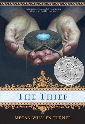 The Thief by Megan Whalen Turner - The king's scholar, the magus, believes he knows the site of an ancient treasure. To attain it for his king, he needs a skillful thief, and he selects Gen from the king's prison. The magus is interested only in the theif's abilities. What Gen is interested in is anyone's guess. (Bilbary Town Library: Good for Readers, Good for Libraries)