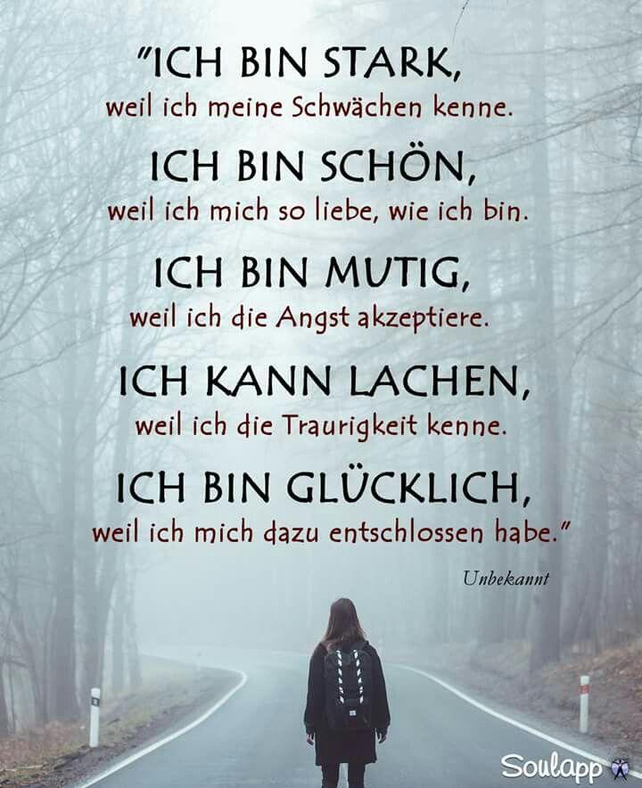 Ich bin stark. Ich bin glücklich. Sprüche – Zitate – Lebensweisheiten deutsch – german – Robin Arendt