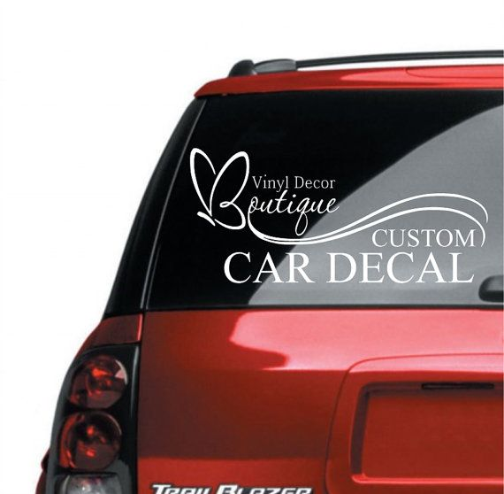 Custom personalized vinyl car decal bumper sticker on etsy 6 00