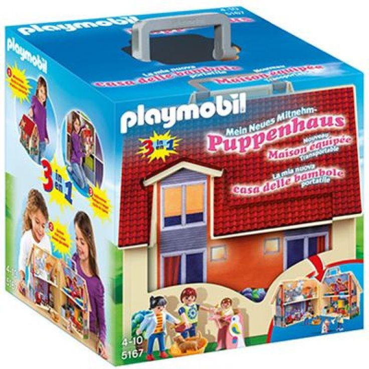 PLAYMOBIL 5167   Dollhouse Neues Mitnehm Puppenhaus \/ Playmobil    Playmobil Badezimmer 4285