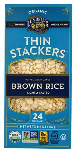 Lundberg Organic Thin Stackers™ Rice Cakes Lightly Salted Brown Rice
