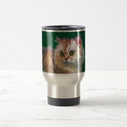 Cat Travel Mug - cat cats kitten kitty pet love pussy