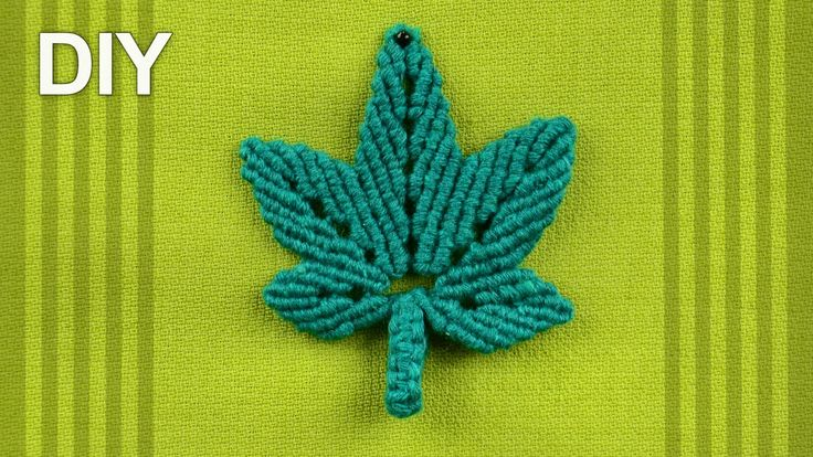 Stylized HEMP LEAF (DIY)  How to make Macrame leaf. Looks like a hemp leaf or maple leaves More in channel: http://www.youtube.com/user/MacrameSc...