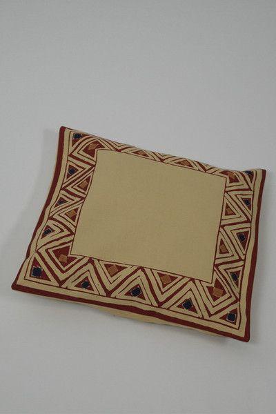 Red Border Print Cushion Cover