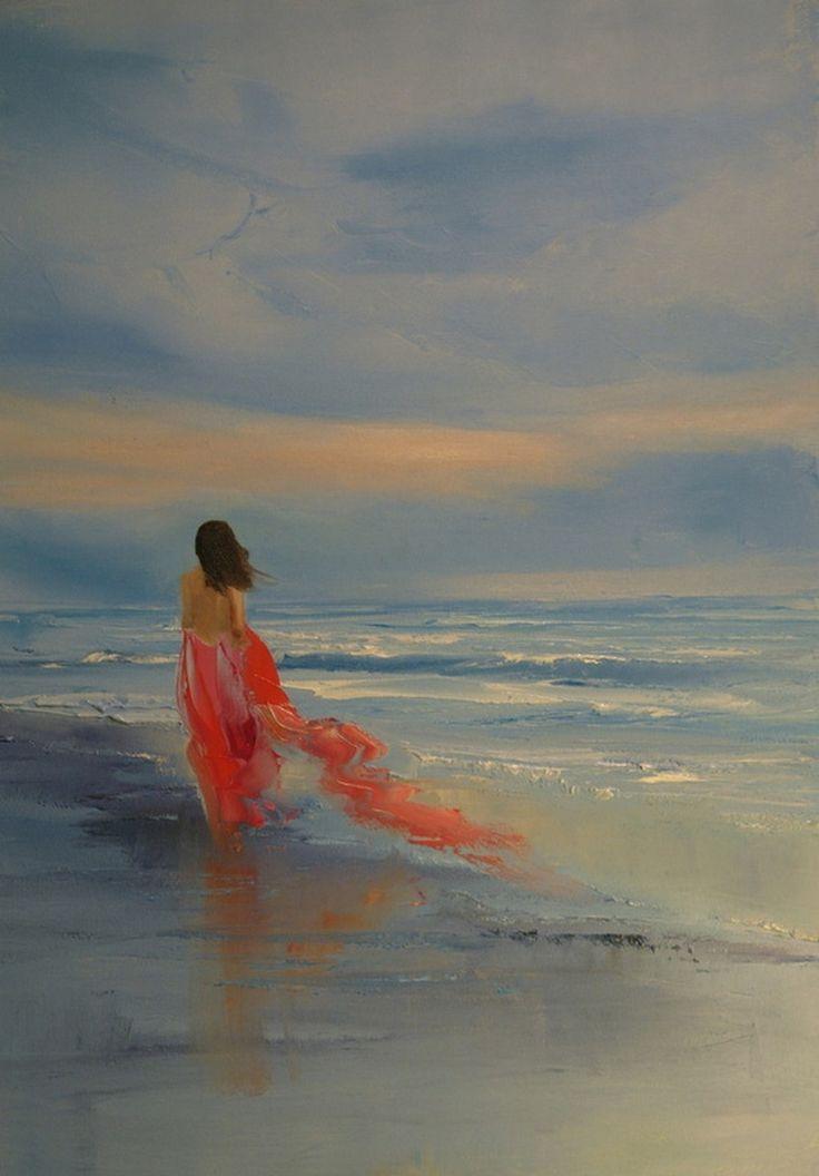 Картины маслом от художницы Кристины Нгуен. Синие сумерки - Блог Три и ночка