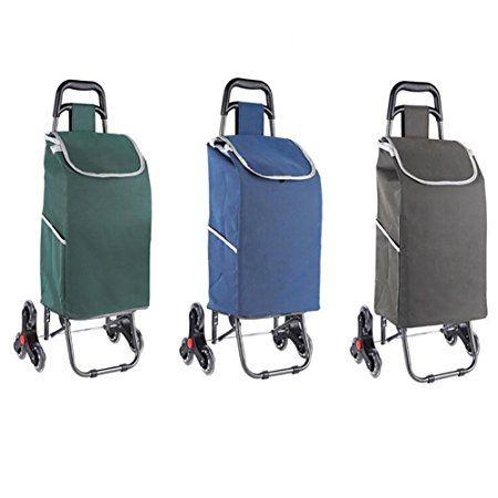 2a9afa06b Carrito de compras plegable portátil equipaje carretilla Carro de la casa  Subir las escaleras Carro pequeño , blue B079FH2Z3D