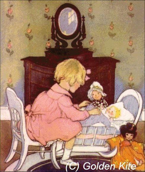 Isabel en su pequeño pesebre - Los colores sólidos