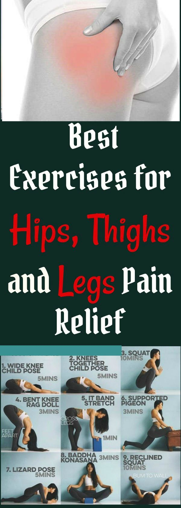 Best exercises for lower body pain. Get relief from legs,hips, and thigh pain fast at home