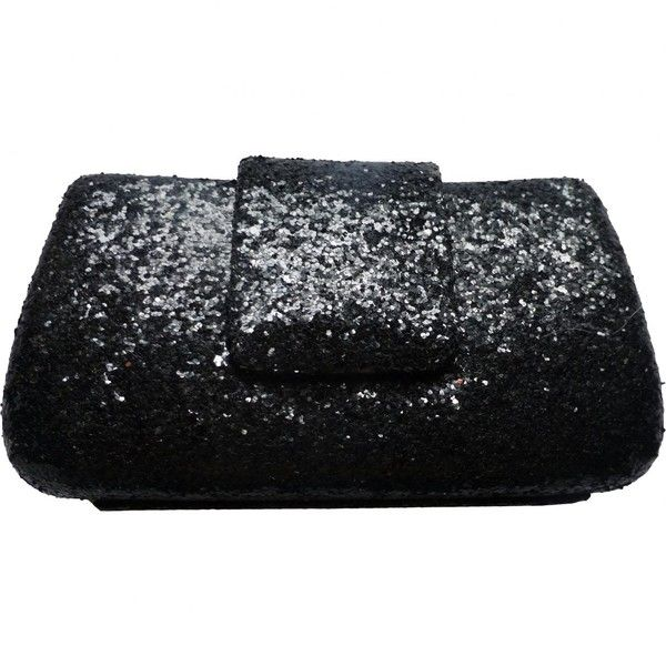 Pre-owned Kurt Geiger Glitter Clutch Bag ($51) ❤ liked on Polyvore featuring bags, handbags, clutches, black, women bags clutch bags, pre owned purses, kurt geiger purse, glitter handbag, pre owned handbag and sequin purse