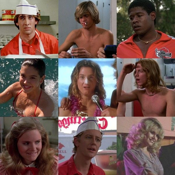 'Fast Times at Ridgemont High' (1982) - Appearing before they were famous: Nicolas Cage, Anthony Edwards, Forest Whitaker, Phoebe Cates, Sean Penn, Eric Stoltz, Jennifer Jason Leigh, Judge Reinhold, Lana Clarkson