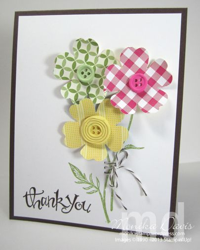 Have you tried the new Simply Pressed Clay molds from Stampin' Up! yet? I love them! The set comes with two molds - one is Buttons and one is Blossoms - each one has three different designs on it....
