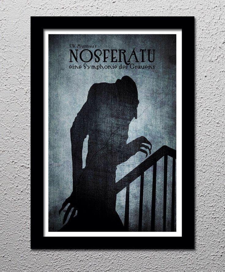 F.W. Murnau's Nosferatu - Max Schreck - Horror Movie Cult Limited Edition Original Art Poster Print - 13x19 by CultClassicPosters on Etsy https://www.etsy.com/listing/128174624/fw-murnaus-nosferatu-max-schreck-horror
