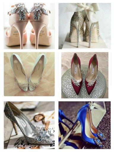 Ideales jimmy choo, manolo blahnik, bagdley mischka, bella belle. Quién pudiera tenerlos todos!!! #zapatos #shoes #wedding #weddingplanner #prusiaeventos