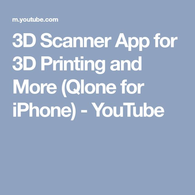 3D Scanner App for 3D Printing and More (Qlone for iPhone) - YouTube