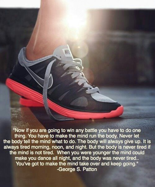 this is not only a running motivational quote, but it extends to a life  advice