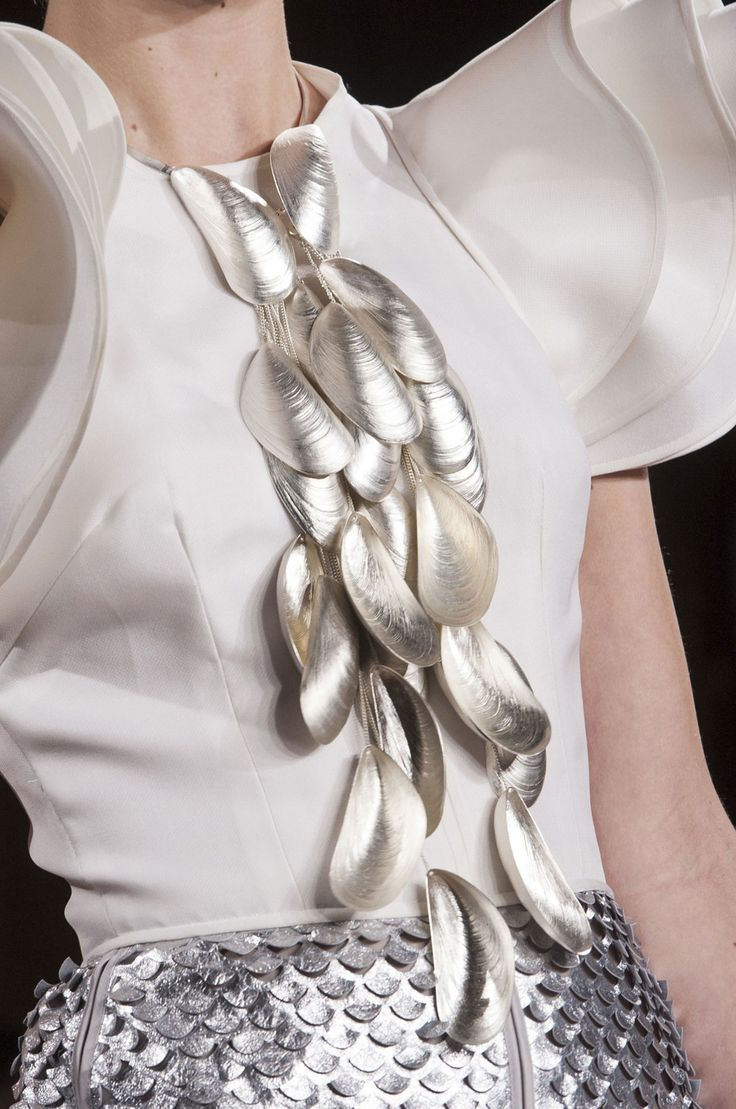 Cascading Mussels Necklace - sculptural jewellery design inspired by natural forms