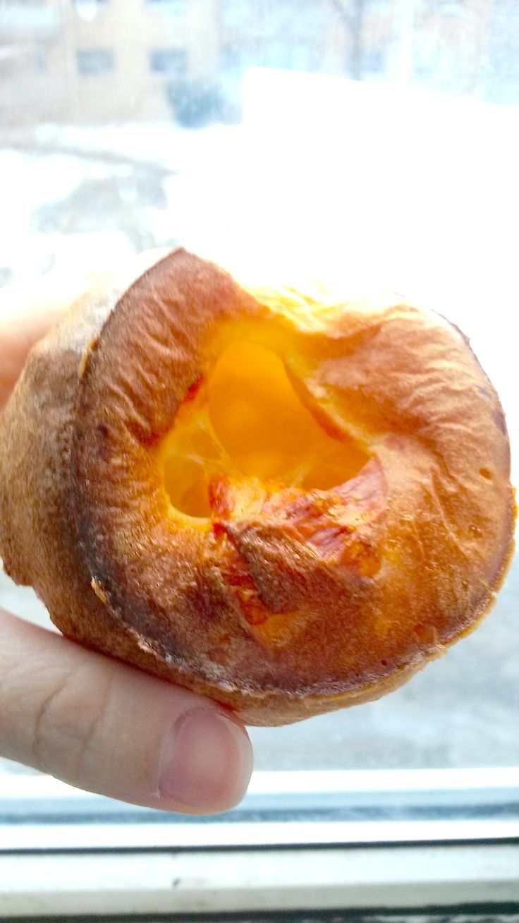 Having a hot fresh Popover on a cold day is simply the best