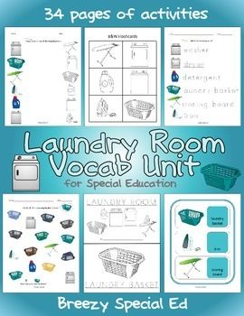 Laundry Room Vocab Unit for Special Education