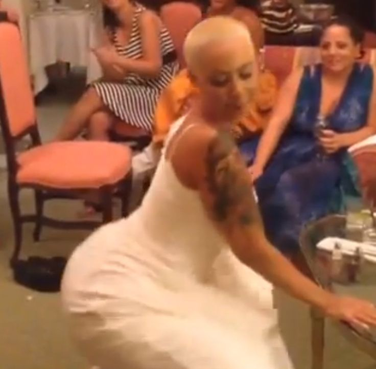 """Amber Rose and Wiz Khalifa celebrated their marriage Sunday night with a big party (they officially tied the knot July 8), but the bash really started the night before the wedding when the bride got her twerk on. Rose posted a video of herself twerking on Instagram with the caption, """"Only bad b*tches twerk the night before their wedding."""""""