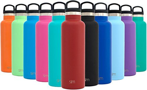 Simple Modern 20oz Ascent Water Bottle - Vacuum Insulated Double-Walled Standard Narrow Mouth 18/8 Stainless Steel Swell Flask with Handle Lid - Powder Coated Hydro Travel Mug - Cherry Red. For product & price info go to:  https://all4hiking.com/products/simple-modern-20oz-ascent-water-bottle-vacuum-insulated-double-walled-standard-narrow-mouth-188-stainless-steel-swell-flask-with-handle-lid-powder-coated-hydro-travel-mug-cherry-red/