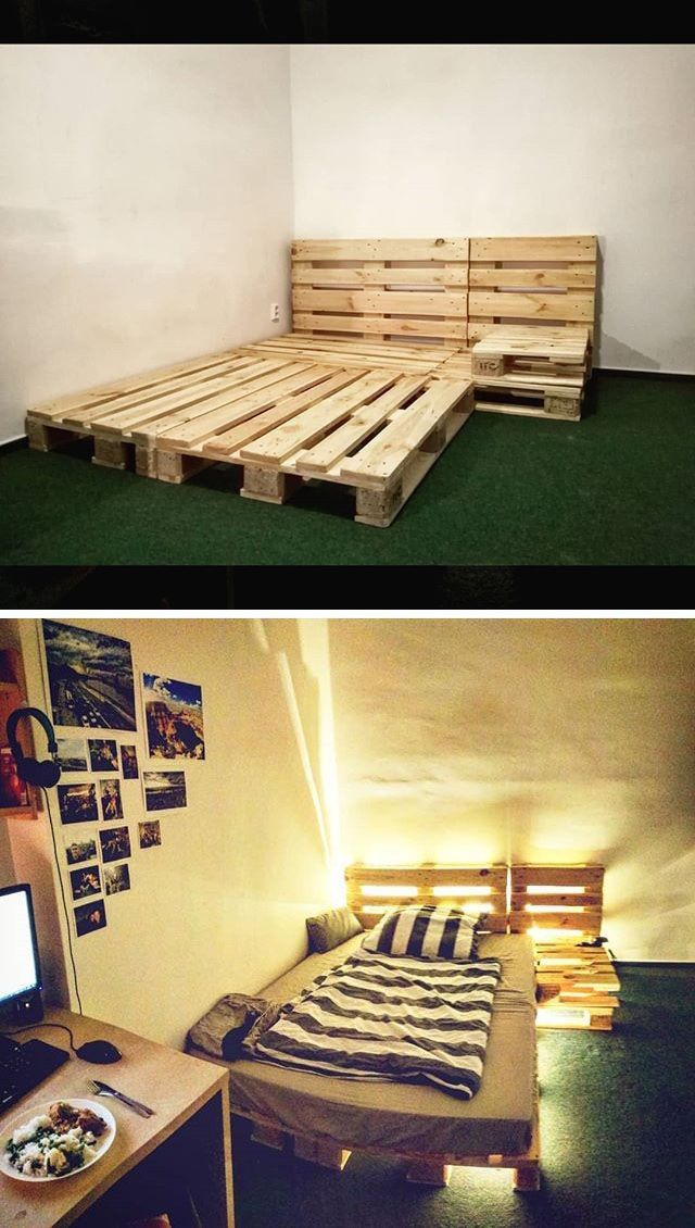 20 Extended Pallet Ideas For Home Interior Wood Pallet Bed