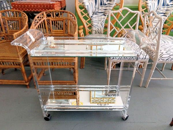 acrylic outdoor furniture. acrylic and mirrored bar cart for the drinks outdoor furniture