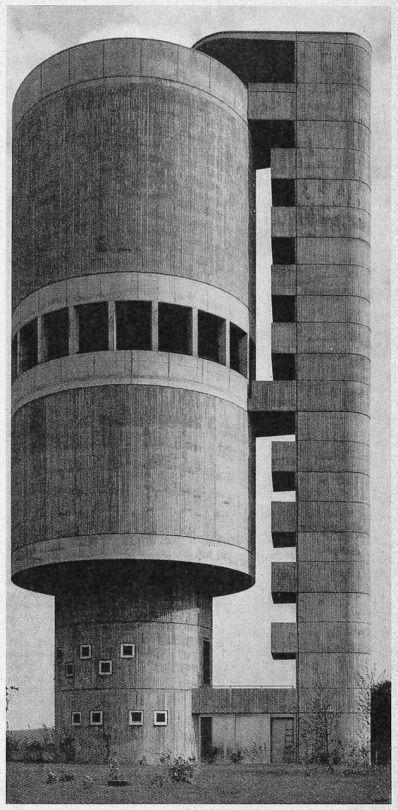 water tower, backnang, germany. 1962.