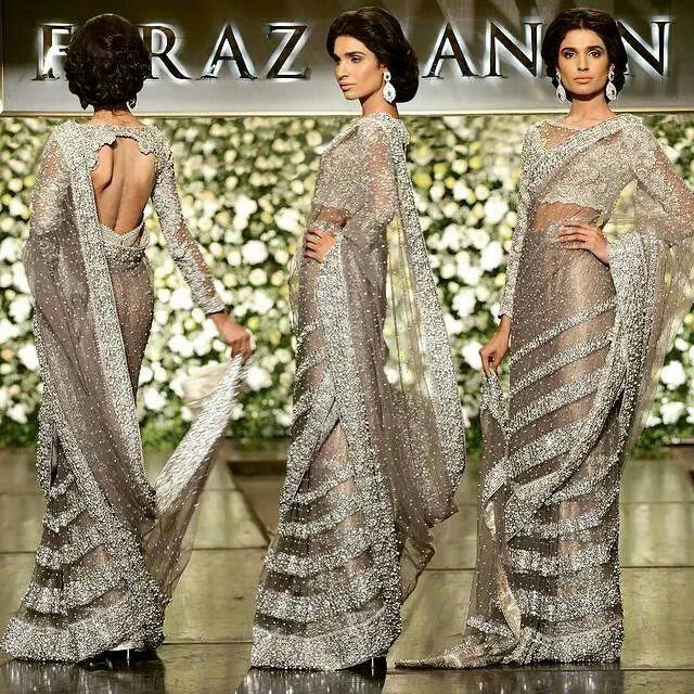 Sari from Faraz Manan SS`15 Couture Florence
