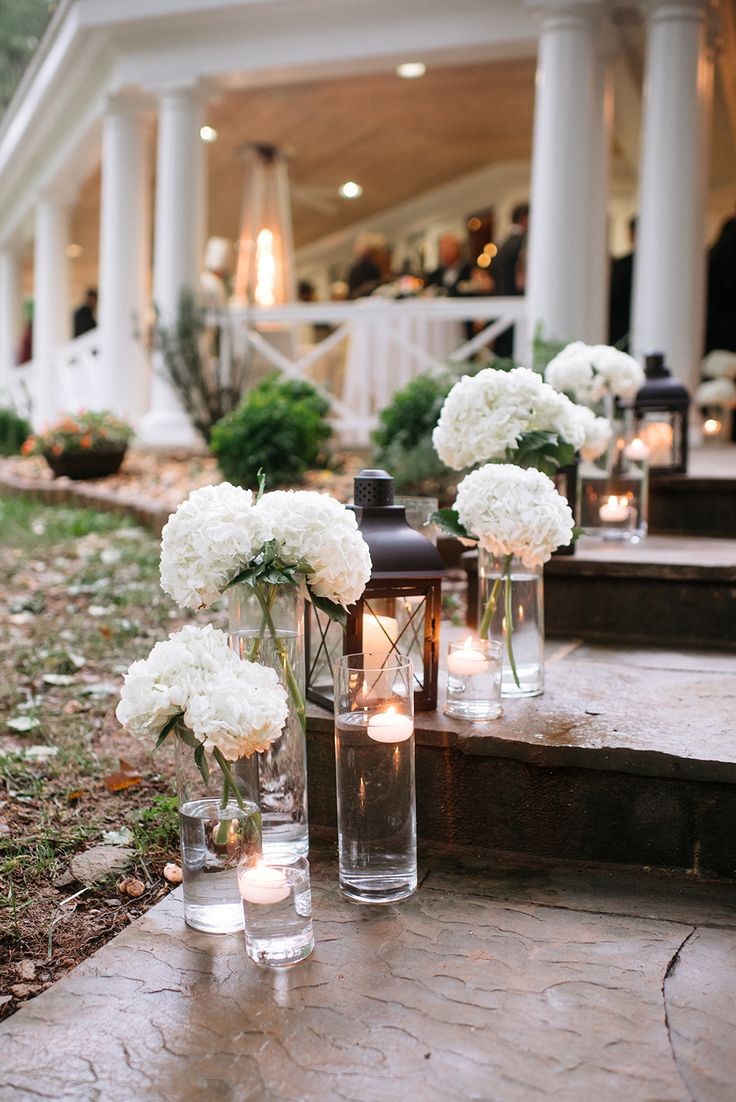 Pavilion Wedding Reception Decor; Airlie Pavilion; Wedding florals and candles; Fall Wedding in Virginia {Photo Credit: Alex Tenser}