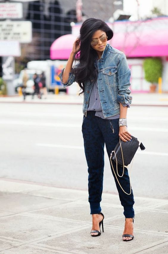 Fantastic  Denim Joggers Outfit On Pinterest  Black Joggers Black Jogger Pants