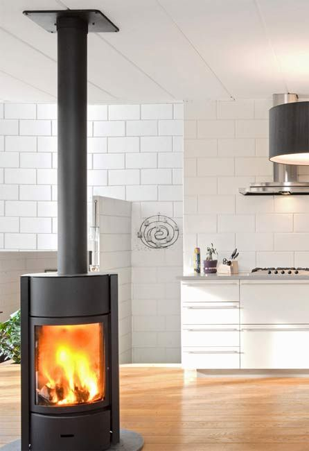 contemporary stand alone gas fireplaces | Solid Fuel Stove Free-Standing Hampshire | Contemporary Free-Standing ...