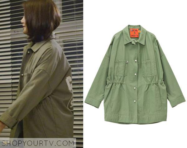 Golden Cross: Episode 9 Seo Yi Re's Oversized Green Jacket - ShopYourTv