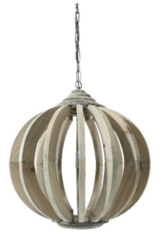 Houten hanglamp. De magnolia in Rijssen en Nijverdal