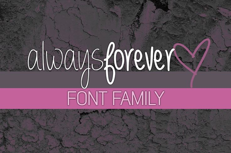 Always forever Font (free for personal/non-profit use) (for commercial use, u r asked to purchase a license on site)