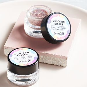 'Unicorn Kisses' Glitter Lip Gloss. Make your friend smile with a thoughtful palentine's gift!